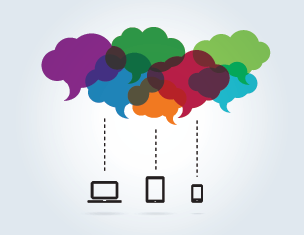 communicating with customers through multiple devices