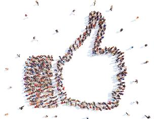 positive customer sentiment via social media