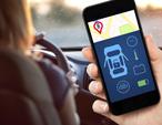 automotive app on mobile device