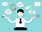 marketer meditating to achieve digital marketing nirvana