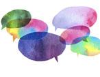 colorful chat bubbles