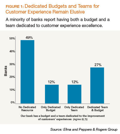 Dedicated Budgets and Teams for Customer Experience Remain Elusive