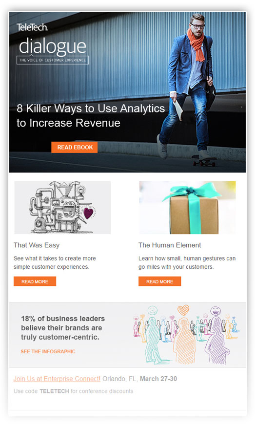 customer experience thought leadership eNewsletter
