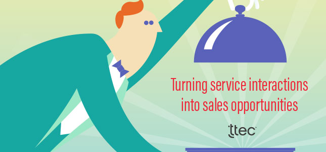turn service into sales