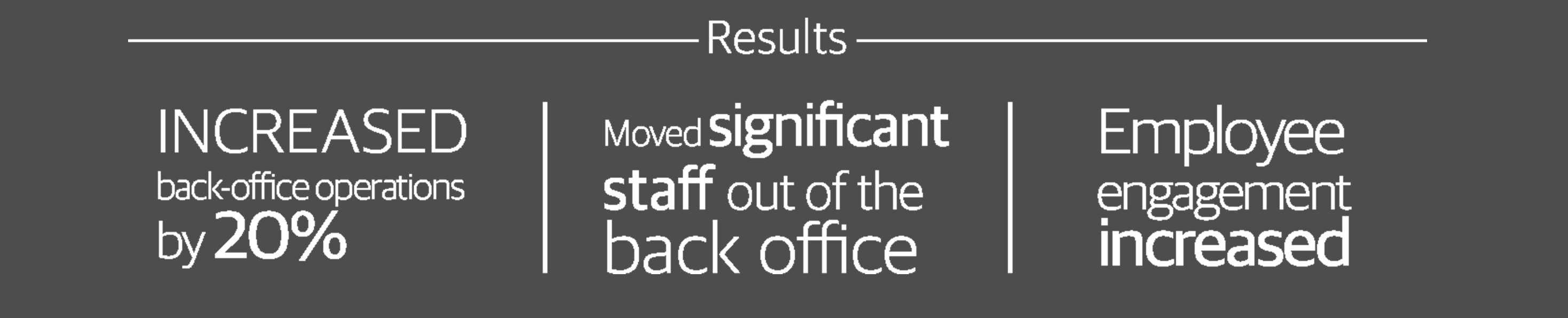 We teamed up to look at their situation and help improve staff utilization.