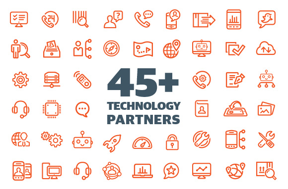 We have 45+ Technology Partners - mobile figure